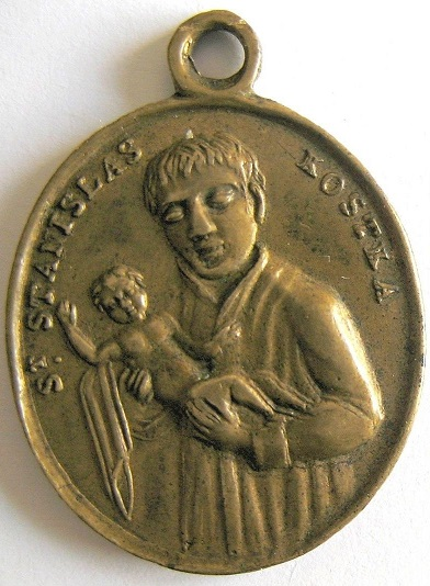 Médaille XVIIIe siècle. St Ignace de Loyola et  Saint Stanislas Kostka _5710