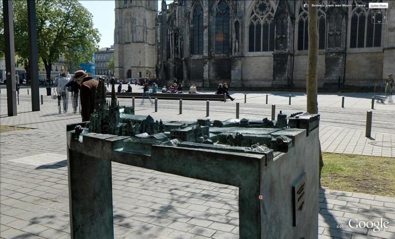 Plan en relief (3D) ou maquette tactile à Bordeaux - France Cath110