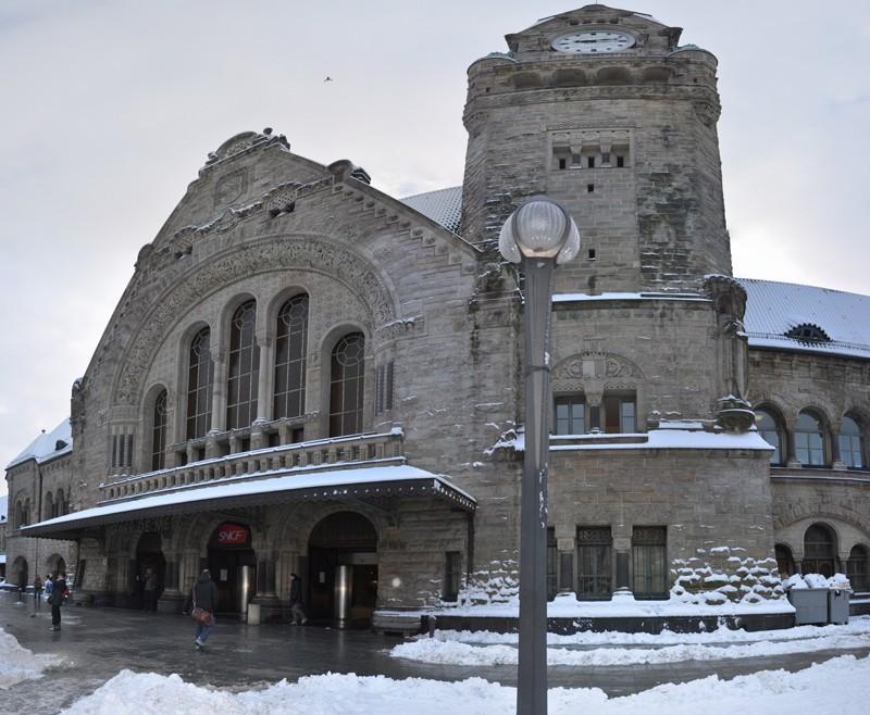 Metz sous la neige. (17/12/2010) Gare_013