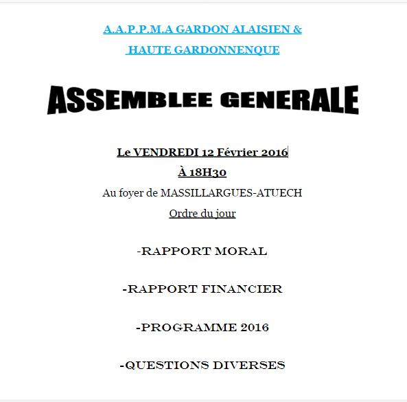 A.A.P.P.M.A Gardon alaisien et H.G. - Portail Ag10
