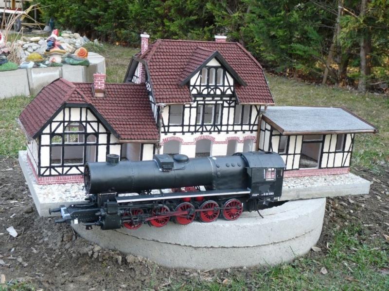 BR52 Kriegslok Modelik 15/03 in 1:25 Bahnho11