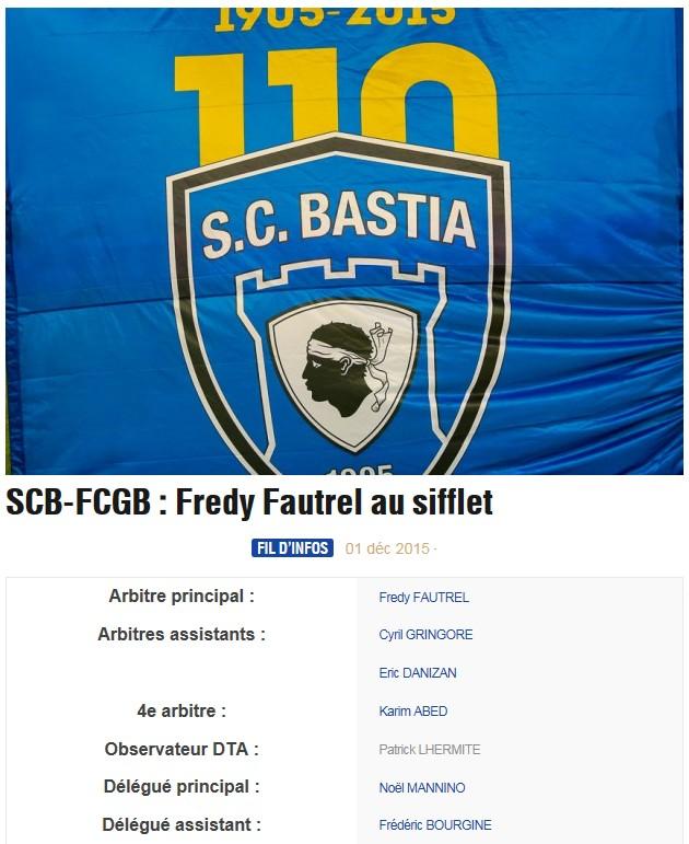 Avant match : Bastia - Bordeaux S27