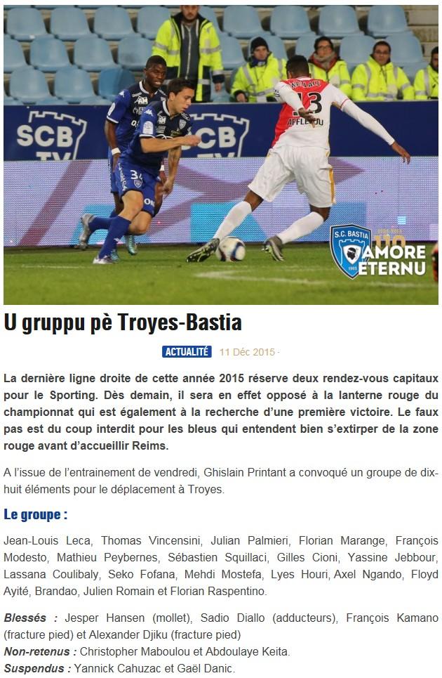 J18 / Jeu des pronos - Prono Troyes-Bastia S42