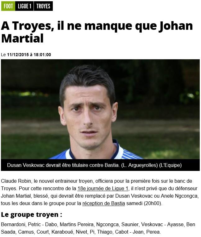 J18 / Jeu des pronos - Prono Troyes-Bastia S43