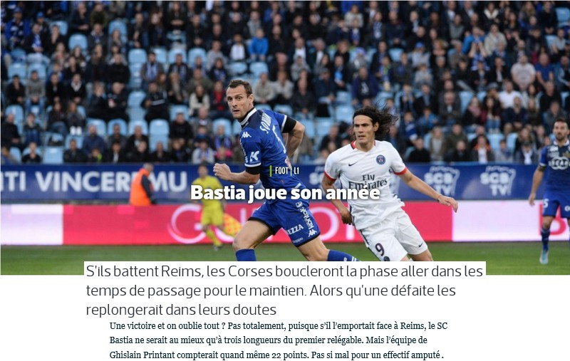 Avant match : Bastia - Reims S53
