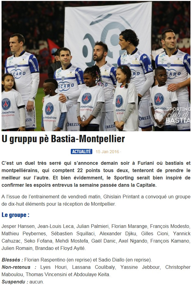 J21 / Jeu des pronos - Prono Bastia-Montpellier S65