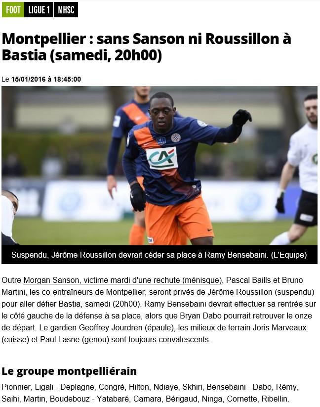 J21 / Jeu des pronos - Prono Bastia-Montpellier S66