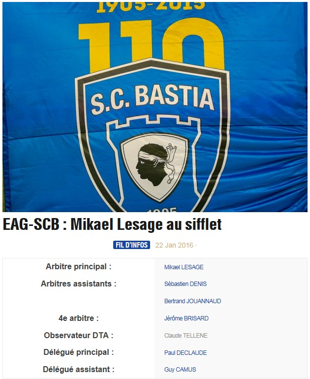 Avant match : Guingamp - Bastia S74