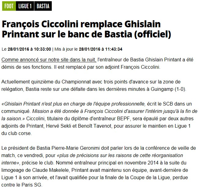 Avant match : Bastia - Lyon S78