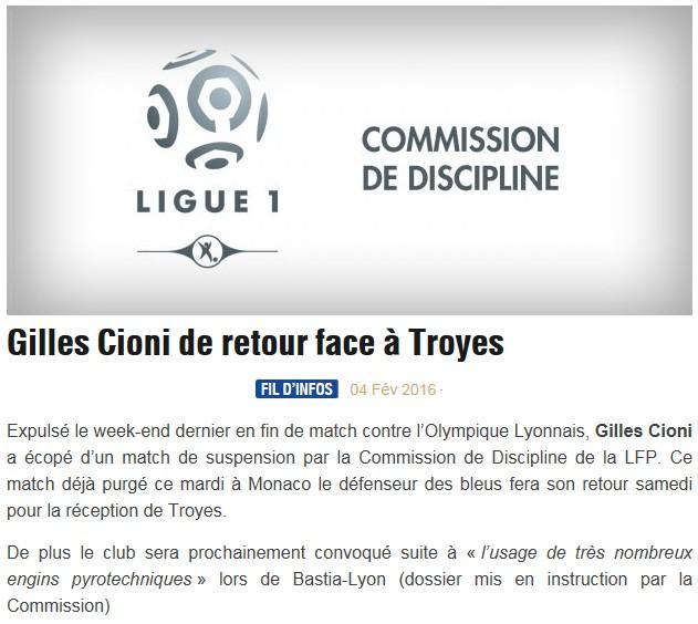 Avant match : Bastia - Troyes S83