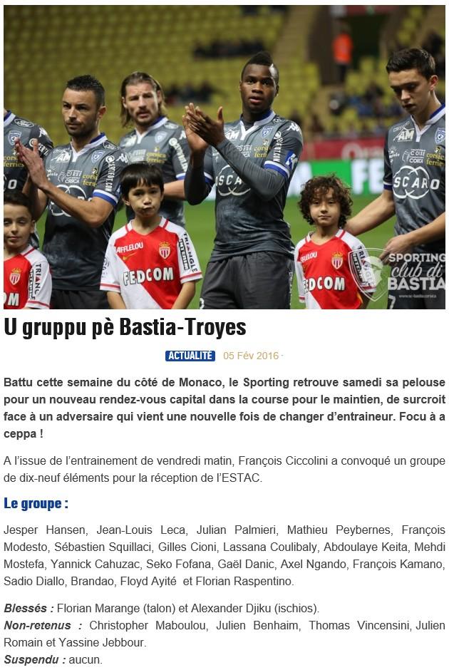 J25 / Jeu des pronos - Prono Bastia-Troyes S84