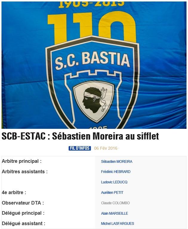 Avant match : Bastia - Troyes S85