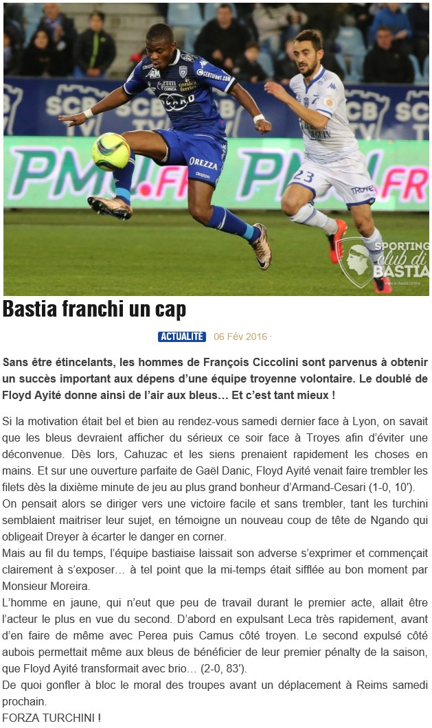 Après match : Bastia - Troyes S88