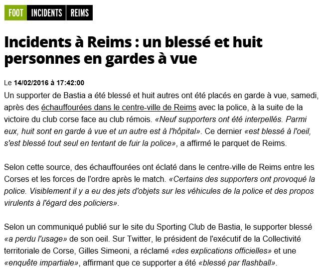 Après match : Reims - Bastia S98