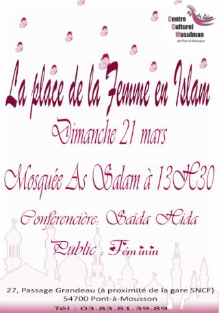Place de la Femme en Islam [Conférence] Place-10