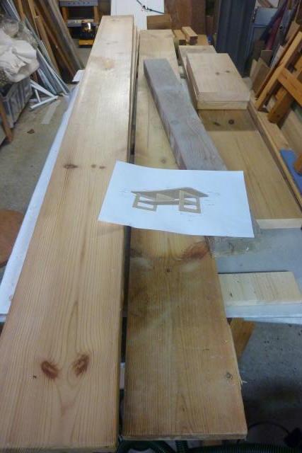 Table basse en bois de récup' Piyces10
