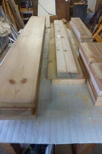 Table basse en bois de récup' Piyces11