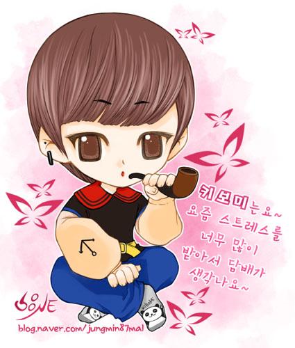 Chibi fanart của b. trẻ Key ~Kim Ki Bum Jungmi10