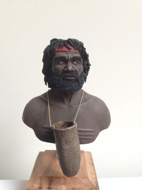 Retour au pinceaux II - Buste aborigène NS Prod  Img_1110