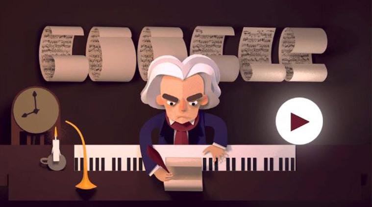 Ludwig Van Beethoven, doodle by Google Beetho10