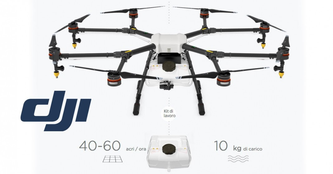 Nuovo drone per l'agricoltura Dji-mg10