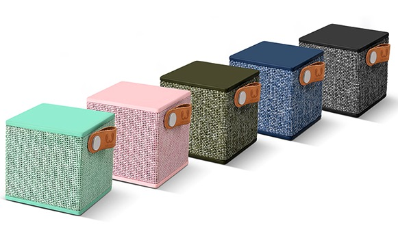 Fresh 'n Rebel presenta gli speaker Rockbox Cube in tessuto Scherm14