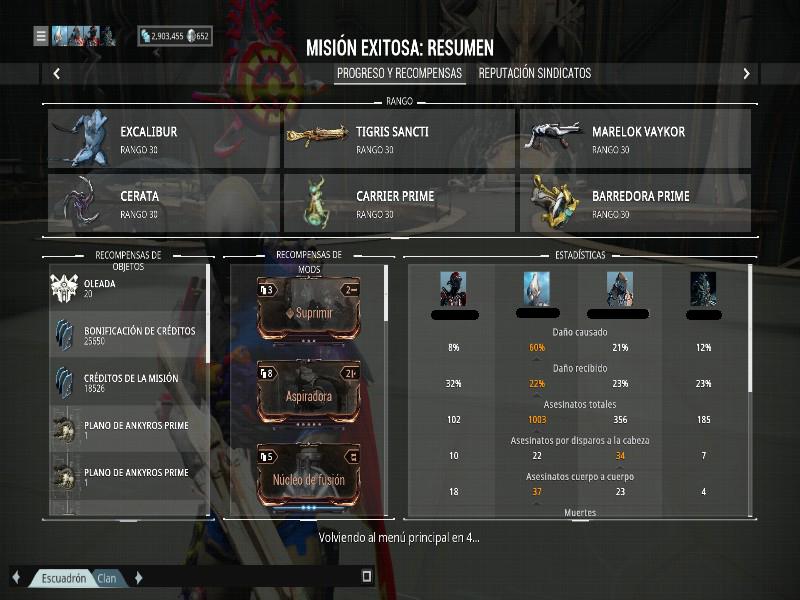 Build para Excalibur/Excalibur Prime Excada11
