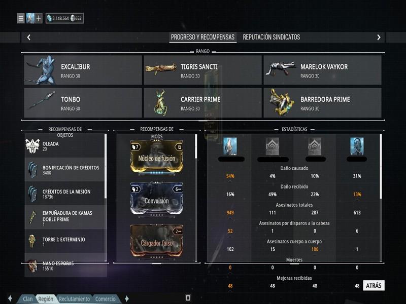 Build para Excalibur/Excalibur Prime Excada12