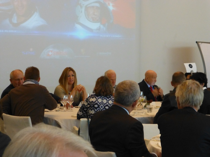 Buzz Aldrin et Alexeï Leonov à Lausanne le 13 novembre 2015. SwissApollo. 07210