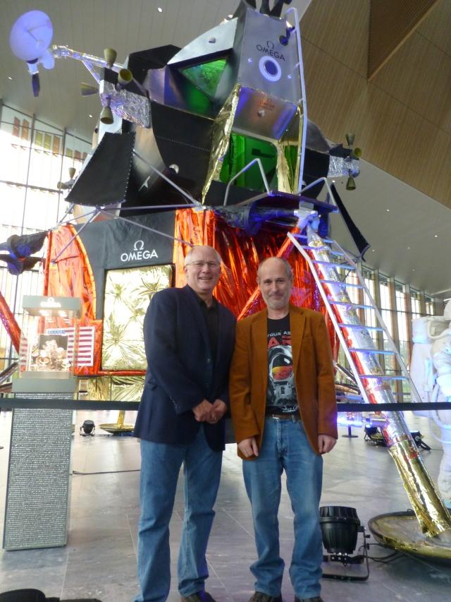Buzz Aldrin et Alexeï Leonov à Lausanne le 13 novembre 2015. SwissApollo. 09010