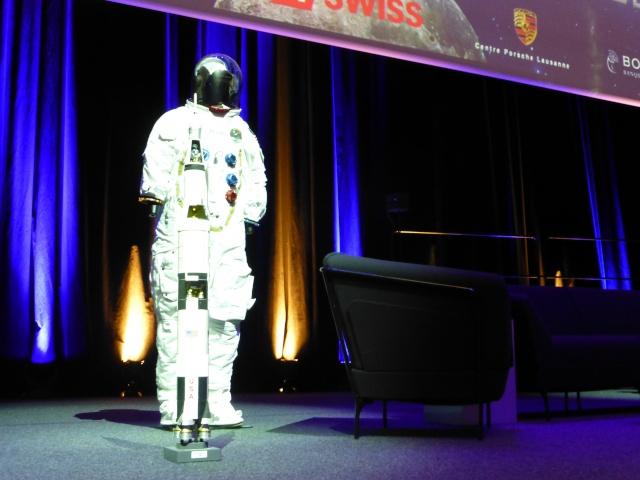 Buzz Aldrin et Alexeï Leonov à Lausanne le 13 novembre 2015. SwissApollo. 09812