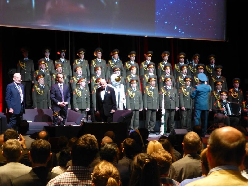 Buzz Aldrin et Alexeï Leonov à Lausanne le 13 novembre 2015. SwissApollo. 12210
