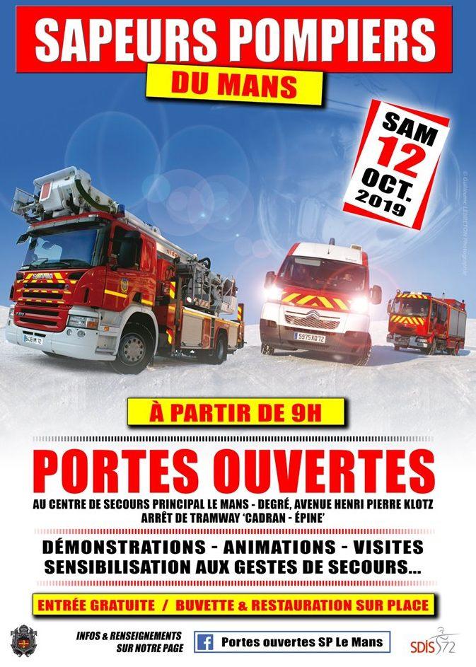 """"""" Porte ouverte """" Pompiers du Mans  Affich12"""