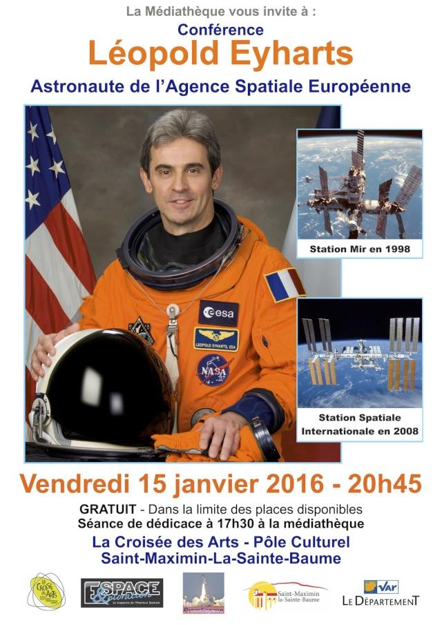 Conférence Léopold Eyharts - 15 janvier - Var Affich14