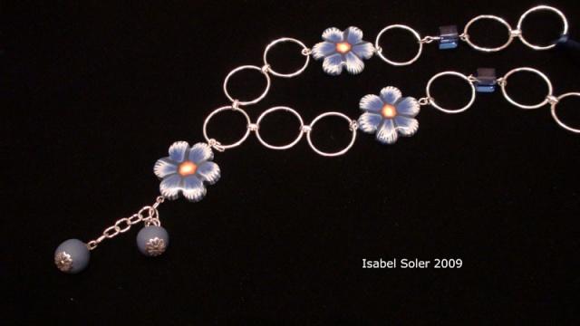 Murrina Flor azul Collar10