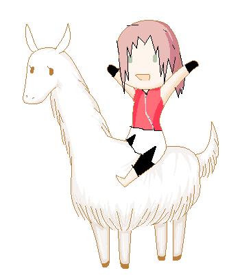 Falalaa! Llamas will rule the world!! Sakura10