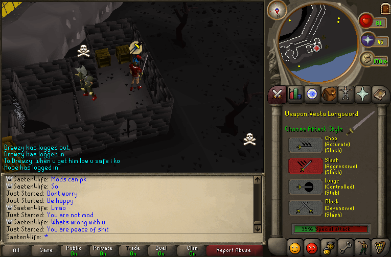 just started calling me a piece of shit and said i abused for pking 002010