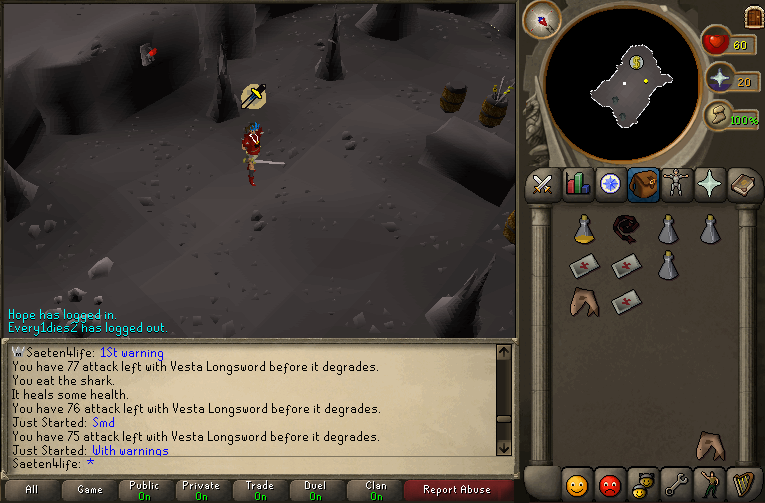 just started calling me a piece of shit and said i abused for pking 002110