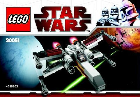 MINI Lego Star Wars X-wing Starfighter 30051-10