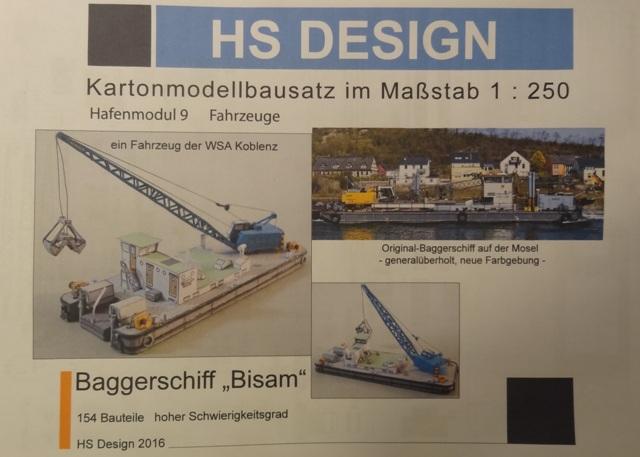 """Baggerschiff """"Bisam"""", HS-DESIGN, 1:250 Dsc09744"""