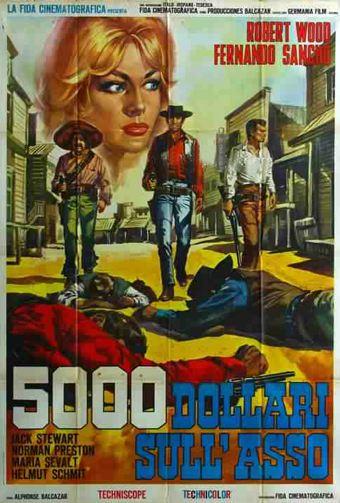 5.000 dollars sur l'as . Pistoleros de Arizona . 1964 . Alfonso Balcazar. En123910