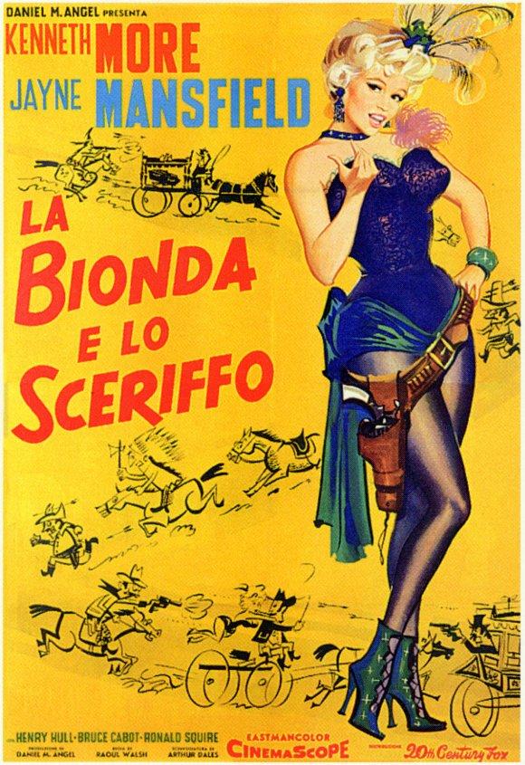 La blonde et le Shérif -The Sheriff of Fractured Jaws-, Raoul Walsh, 1958. Lablon10