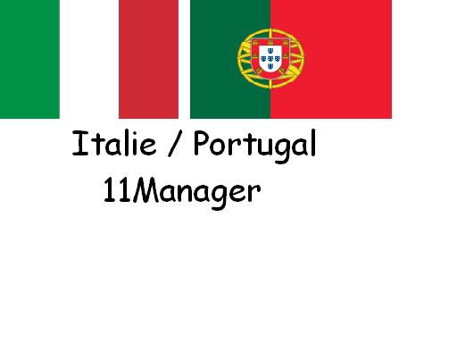 Italie - Portugal 11Manager