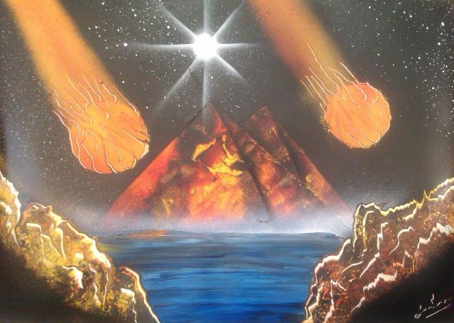 Le retour de loulou!!! et toutes mes peintures actuelles et à venir :) Meteor10