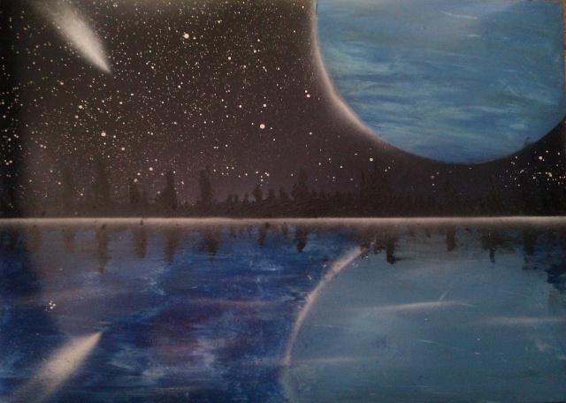 Le retour de loulou!!! et toutes mes peintures actuelles et à venir :) Reflet11