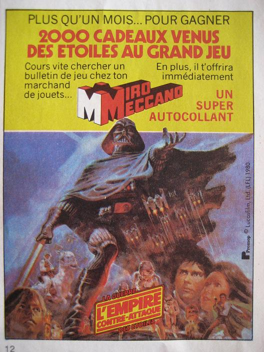 Vintage Star Wars French Toy Advertisements Pif_0110