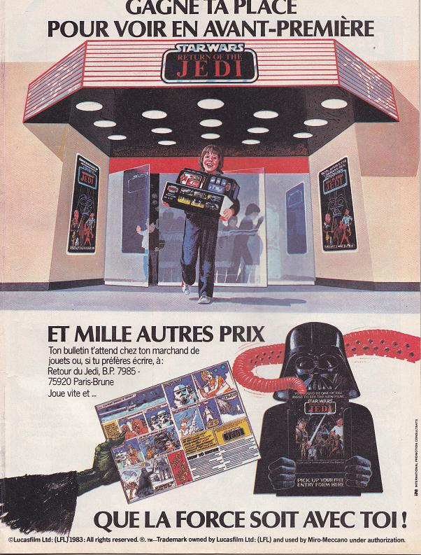 Vintage Star Wars French Toy Advertisements Tvtr_s13