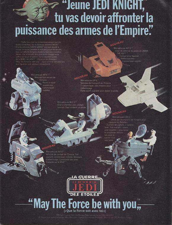 Vintage Star Wars French Toy Advertisements Tvtr_s16