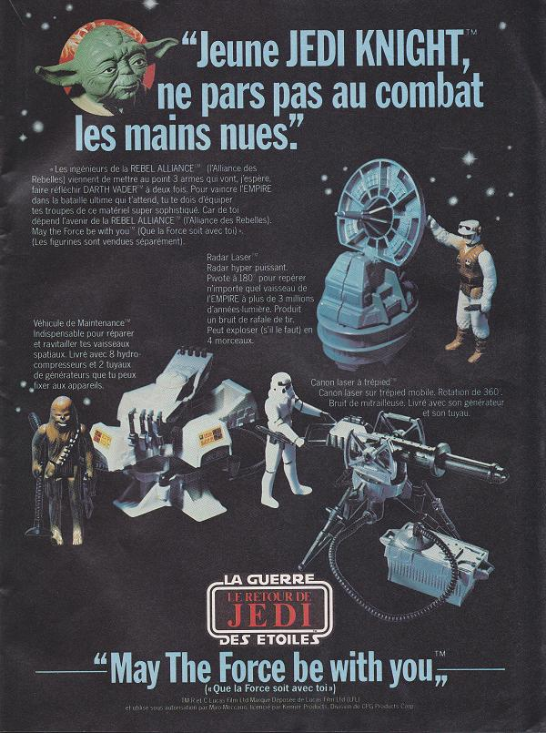 Vintage Star Wars French Toy Advertisements Tvtr_s17