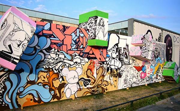 Poster un graffiti Wall-o10